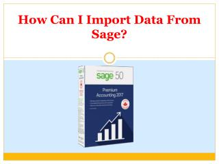 How Can I Import Data From Sage?