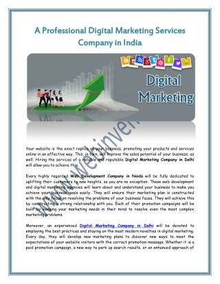 A Professional Digital Marketing Services Company in India