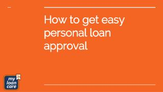 How to get easy personal loan approval