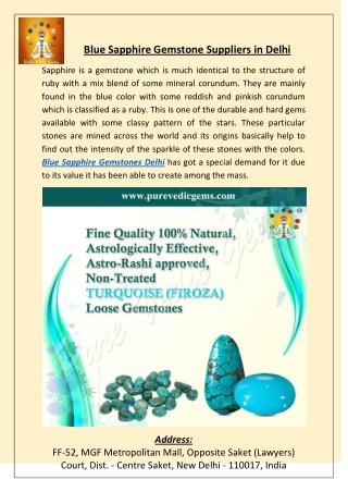 Blue Sapphire Gemstone Suppliers in Delhi
