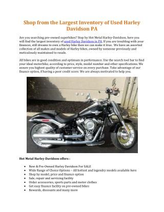 Used Harley Davidson PA | Hot Metal Harley Davidson