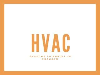 Reasons to enroll in HVAC program