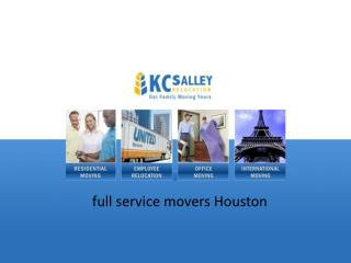 KC Salley Moving & Relocation Company In Houston