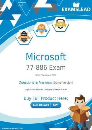 77-886 Exam Dumps   Prepare Your Exam with Actual 77-886 Exam Questions PDF
