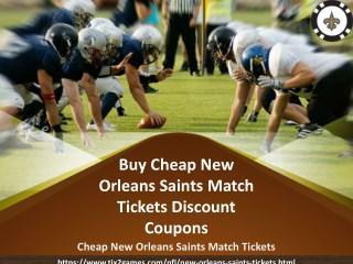 New Orleans Saints Tickets Discount Coupon