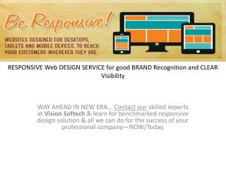 RESPONSIVE Web DESIGN SERVICE for good BRAND Recognition
