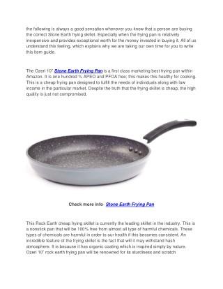 Ozeri 10 Inch Stone Earth Frying Pan