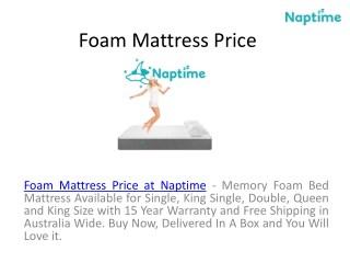 Foam Mattress Deals at Naptime Australia