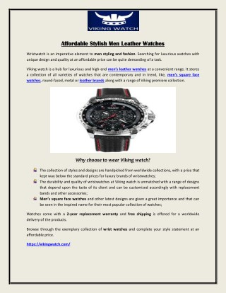 Affordable Stylish Men Leather Watches