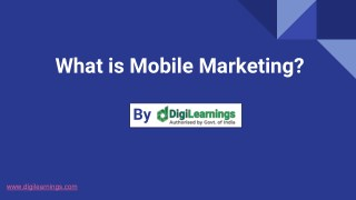 Mobile Marketing Tips by DigiLearnings Digital Marketing Institute Jaipur
