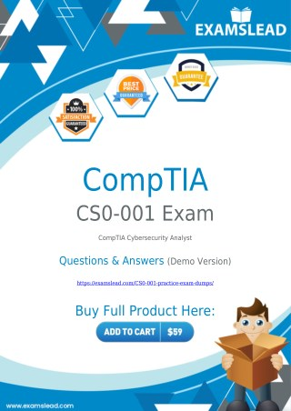 CS0-001 Exam Dumps | CompTIA CySA  CS0-001 Exam Questions PDF [2018]