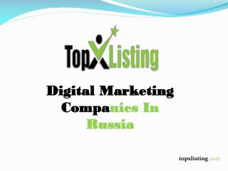 Digital Marketing Companies In Russia