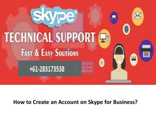 How to Create an Account on Skype for Business?