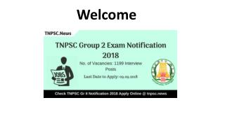TNPSC Group 2 Exam Notification 2018 Apply Online for 1199 Group II Vacancies