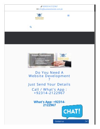 website development in pakistan