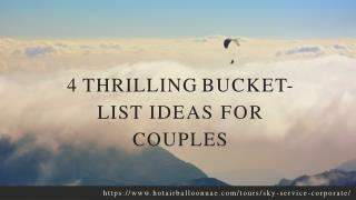 4 Thrilling Bucket-List Ideas For Couples