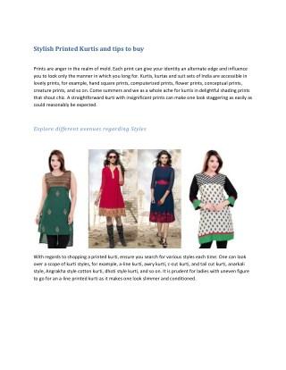 Stylish Printed Kurtis and tips to buy