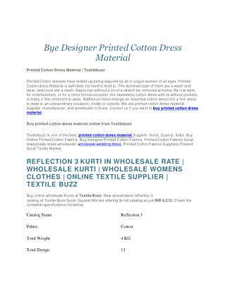 Wholesale Printed Cotton Supplier   Printed cotton dress material  Wholesale Rates Printed Cotton   Online Shopping of