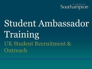 Student Ambassador Training
