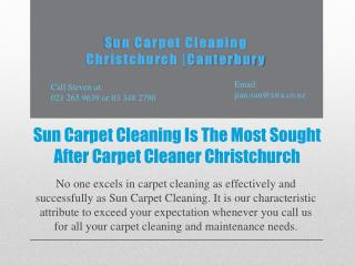 Sun Carpet Cleaning Is The Most Sought After Carpet Cleaner Christchurch