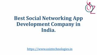 Best social Networking app development company in India