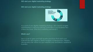 SEO And Your Digital Marketing Strategy