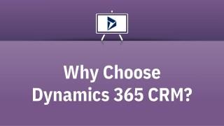 Why Choose Dynamics 365 CRM?