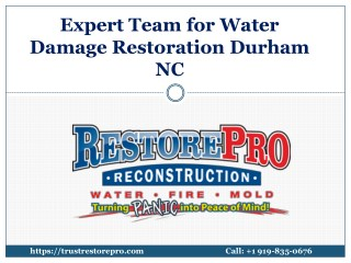 Expert Team for Water Damage Restoration in Durham NC