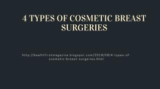 4 TYPES OF COSMETIC BREAST SURGERIES