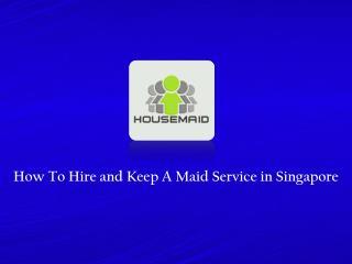 Maid Service Singapore