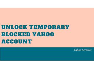 How to Unlock Your Temporarily Locked Yahoo Account - Updated | You Can't Miss!!!