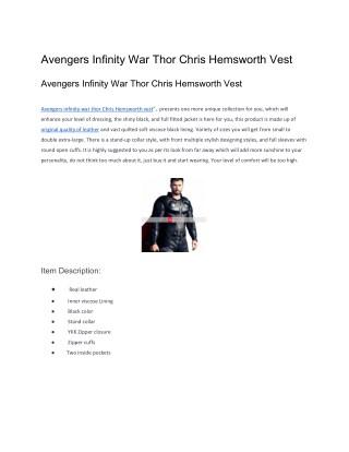 Avengers Infinity War Thor Chris Hemsworth Vest