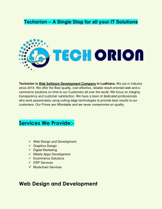 IT Solution Company India
