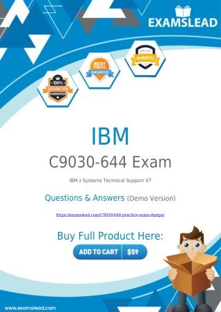 Get Best C9030-644 Exam BrainDumps - IBM C9030-644 PDF