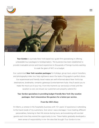 Great Deals on New York Vacation Packages with Tour Gordon