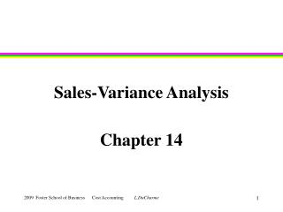 Sales-Variance Analysis