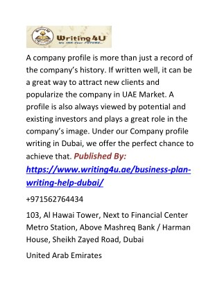 Business Plan Writing  in Dubai