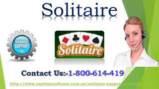 Solve Solitaire 247 Game Error Via Toll-Free 1-800-614-419