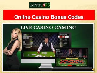 Snippet Casino Match Bonus Code