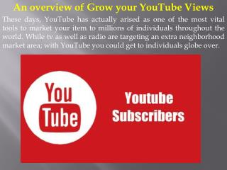 An overview of Grow your YouTube Views