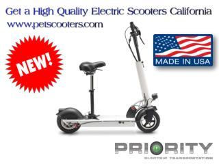 Get a High Quality Electric Scooters California