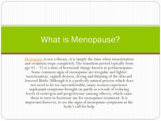 How to get relief from menopause and panic attacks?