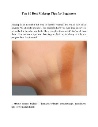 Top 10 Best Makeup Tips for Beginners