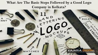 What Are The Basic Steps Followed by a Good Logo Company in Kolkata