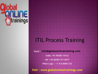 ITIL Process Training | Best Process Certification Training by GOT
