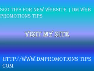Seo Tips for New Website