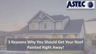 3 reasons why you should get your roof painted right away!