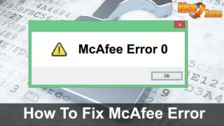 How to Fix McAfee Error 0