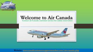 Contact Air Canada Customer Service for Getting Instant Help
