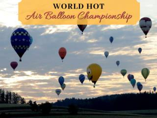 World Hot Air Balloon Championship 2018